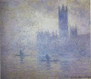 Houses of Parliament (Monet series) - Image: Brouillard, London Parliament, Claude Monet