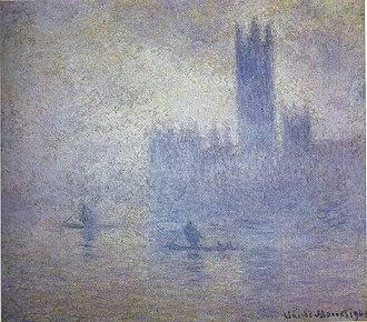 Houses of Parliament (Monet series) - Image: Brouillard, London Parliament, Claude Monet