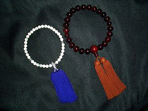 Prayer beads - Japanese Zen Buddhist prayer beads (Juzu).