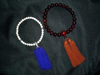 Prayer beads - Japanese Zen Buddhist prayer beads (Juzu).