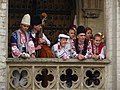 Bulgarian folk dancers and musicians in Brussels.JPG