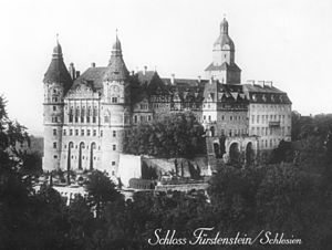 Książ - Schloss Fürstenstein in the 1920s