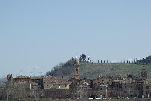 Panorama of Buonconvento, Province of Siena