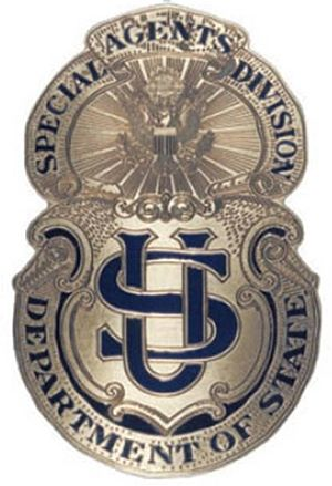 Bureau of Diplomatic Security - 1916 Badge of the Bureau of Secret Intelligence, today's DSS
