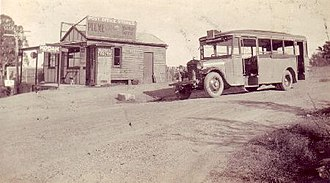 Kellyville, New South Wales - Image: Bus outside Kellyville Post Office on corner of Acres & Windsor Roads Kellyville 1930