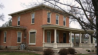 Dover, Minnesota - The Bush House, on the National Register of Historic Places, in Dover.