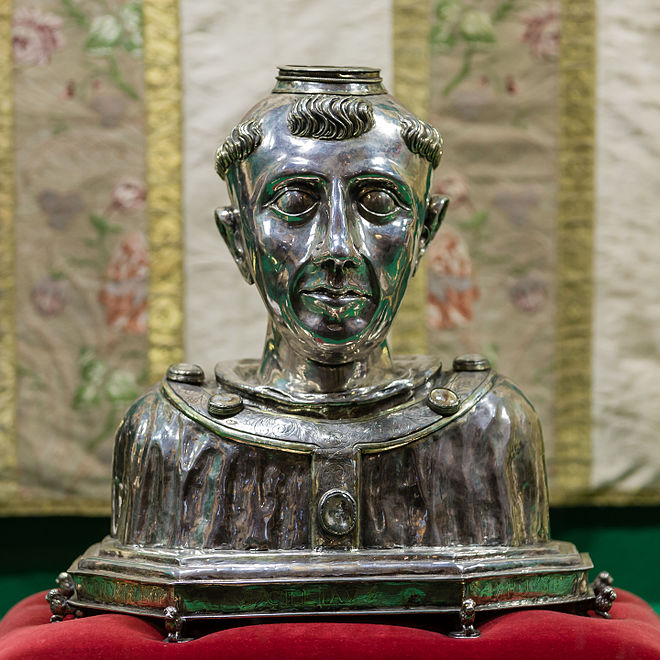 A relic; the head of Saint Suliau