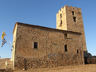 Chalkidiki - Byzantine tower, Nea Fokea