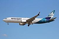 C-FNWD Boeing 737 MAX 8 WestJet Airlines YVR 04JUL18.jpg