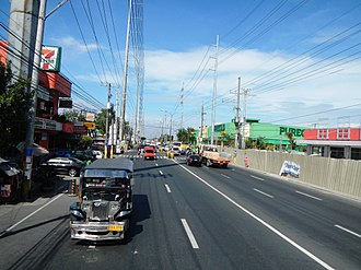 Aguinaldo Highway - Aguinaldo Highway looking south towards towards Nueno Avenue in Imus.