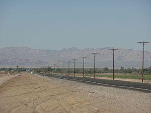 California State Route 111 - SR 111 north in Niland