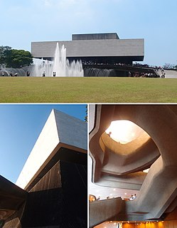 Tanghalang Pambansa theatre in Pasay, Metro Manila, Philippines, part of Cultural Center of the Phliippines