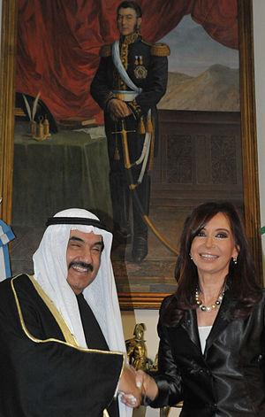 CFK y Nasser Mohammed Al-Ahmed Al-Sabah