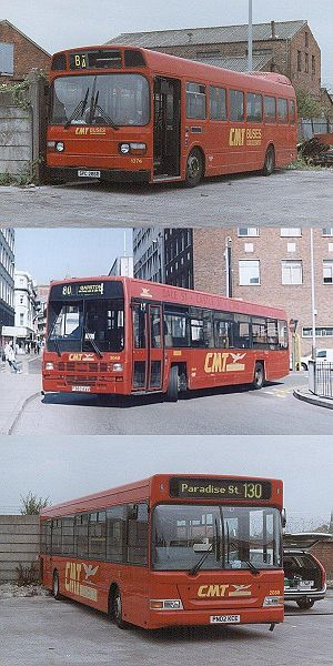 Glenvale Transport - CMT Leyland National, Leyland Lynx and Plaxton Pointer bodied Dennis Dart