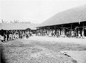 Tamil Indonesians - A group of Tamil workers were brought from India by the Dutch for working on plantation sectors in Medan, 1920s.