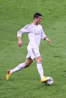 """CR7"" avec le Real Madrid, en 2013."