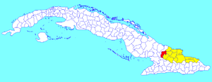 Calixto García, Cuba - Image: Calixto García (Cuban municipal map)