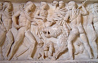 Calydonian Boar - The Calydonian Hunt shown on a Roman frieze (Ashmolean Museum, Oxford)