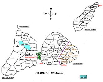Camotes Islands - The islands, municipalities and barangays of the Camotes
