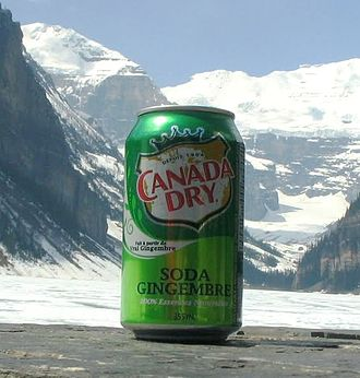 Canada Dry - A can of Canada Dry Ginger Ale with the current logo at Lake Louise