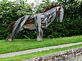 Canalside Horse Sculpture, by Nantwich Basin, Cheshire - geograph.org.uk - 1323141.jpg