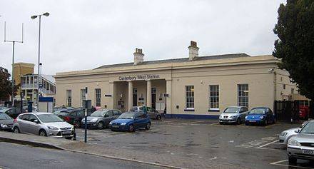 "Canterbury West railway station. The world's first regular passenger railway ran from this site, and it was here that the world's first season ticket was issued. Today, the railway station connects with ""High Speed 1"", on which trains run to London at up to 140 miles per hour (225 km/h)."