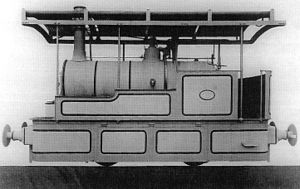 Namaqualand 0-4-0WT Condenser - Kitson works picture of no. 1 John Taylor, c. 1886