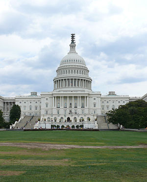 English: US Capitol as seen from 1St NW, Washi...
