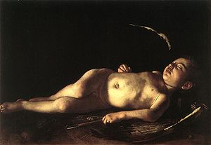 Sleeping Cupid (Caravaggio) - Image: Caravaggio sleeping cupid