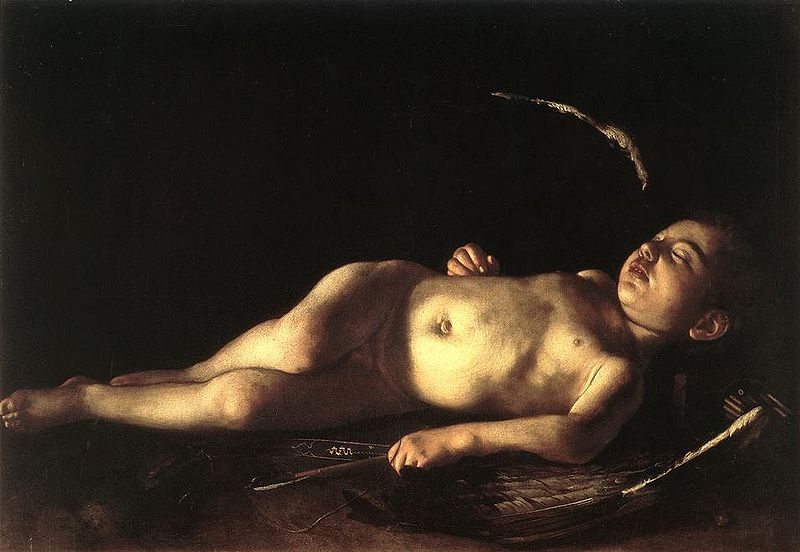 File:Caravaggio sleeping cupid.jpg