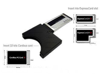 ExpressCard - Cardbus to ExpressCard Adapter