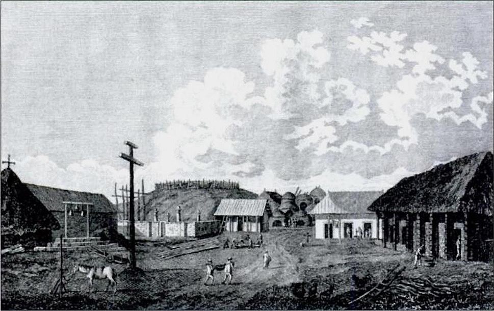 Carmel California, 1794 sketch by John Sykes