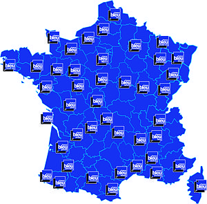 France Bleu - Station coverage around France.