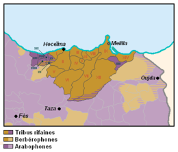 Description de l'image Carte des tribus du Rif.PNG.