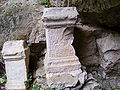 Carved stones at the entrance of worshiping-cave of God Mitra.jpg