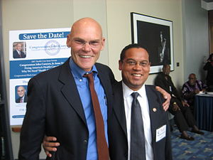 Left to right: James Carville and Keith Ellison