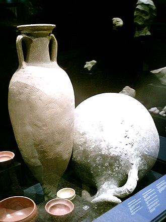Badalona Museum - Roman amphora at Badalona Museum