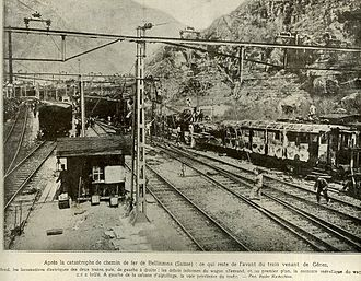 Bellinzona - Train disaster in Bellinzona, May 1924