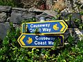 Causeway Coast Way sign near Portbraddan - geograph.org.uk - 818720.jpg