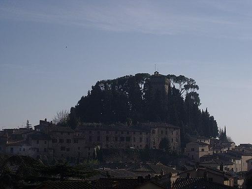 Cetona, panorama at dusk