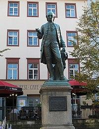 Wieland-Denkmal in Weimar von Hanns Gasser, enthüllt 1857. (Quelle: Wikimedia)