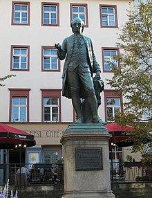 Wieland-Denkmal in Weimar von Hanns Gasser, enthüllt 1857 (Quelle: Wikimedia)