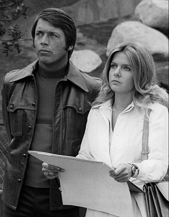 Chad Everett - Everett (left) with Meredith Baxter in 1975