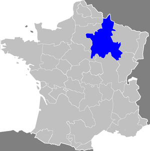 Champagne fairs - Location of the province of Champagne in modern France