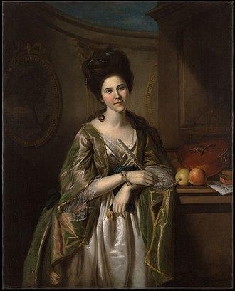 Walter Stewart (general) - Portrait of Deborah McClenachan Stewart by Charles Willson Peale, 1782