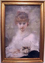 Jeune Fille au chat