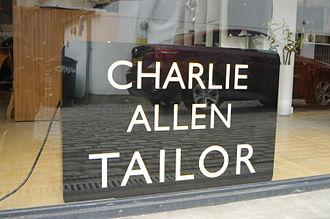 Charlie Allen (designer) - Allen's signage at his flagship emporio in Islington, London.