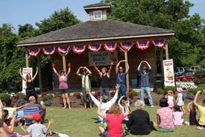 Duck, North Carolina - A morning theater and music show at the Duck Town Park.