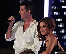 British music executive Simon Cowell (left), seen here in June 2010, judged only for the semi-finals and the final for this series. Image: Alison Martin.