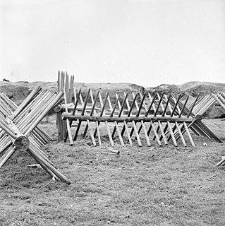 <i>Cheval de frise</i> medieval defensive obstacle